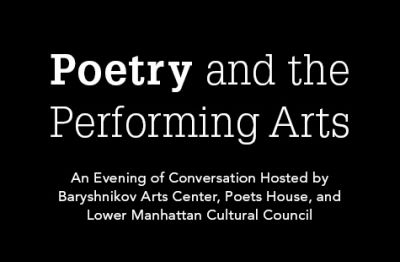 Poetry and the Performing Arts
